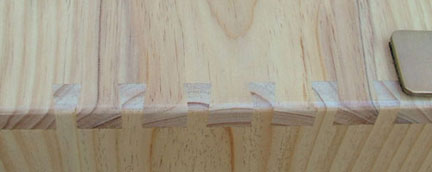 detailed view of dovetail joint